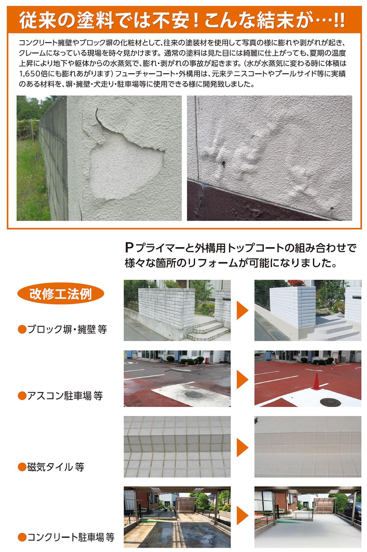 フューチャーコート外構、外構保護材、コンクリート保護材